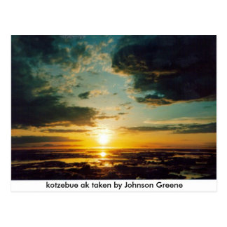 SUNSET KOTZ jg, kotzebue ak taken by Johnson Gr... Postcard