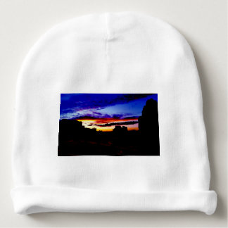 Sunset La Sal Mountains Viewpoint Arches National Baby Beanie