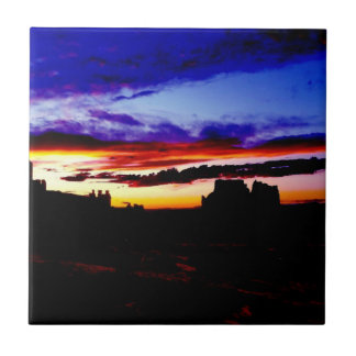 Sunset La Sal Mountains Viewpoint Arches National Ceramic Tiles