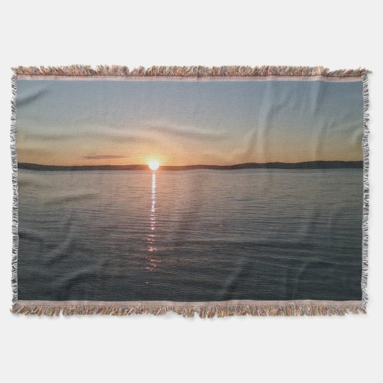 Sunset Lake Blanket Beautiful Lovely  Throw