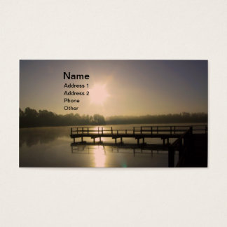 Sunset Lake Business Card
