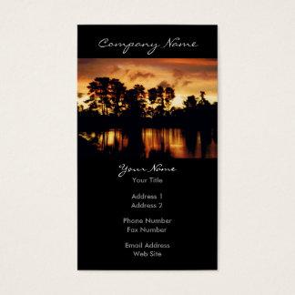 Sunset Lake Photo Business Card
