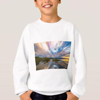 Sunset  Lake Reflections Timed Stack Sweatshirt