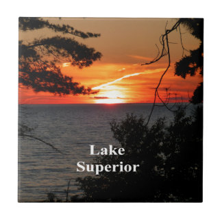 Sunset Lake Superior Ceramic Tiles