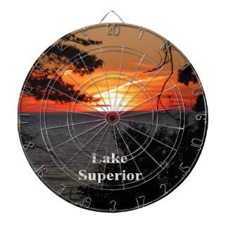 Sunset Lake Superior Dartboard