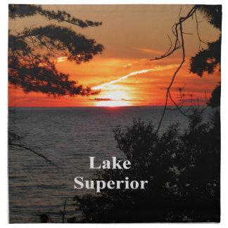 Sunset Lake Superior Napkin