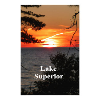 Sunset Lake Superior Stationery