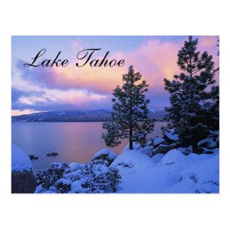 Sunset Lake Tahoe Nevada  Postcard
