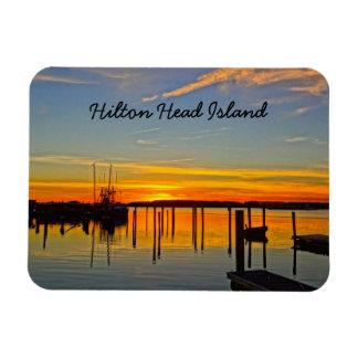 Sunset Landing Skull Creek Boathouse Hilton Head Magnet