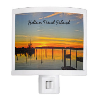Sunset Landing Skull Creek Boathouse Hilton Head Night Lights