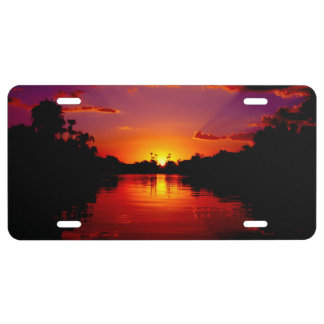 Sunset Landscape License Plate