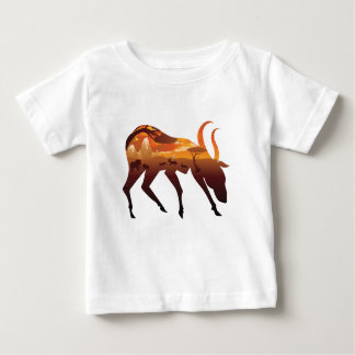 Sunset Landscape with Antelopes 2 Baby T-Shirt