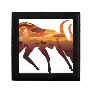 Sunset Landscape with Antelopes 2 Gift Box