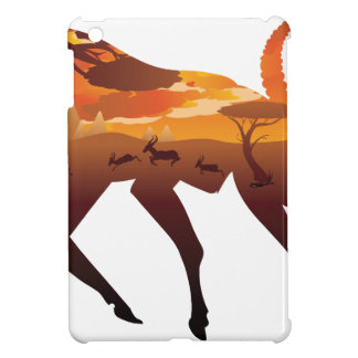 Sunset Landscape with Antelopes 2 iPad Mini Cases