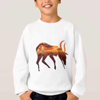 Sunset Landscape with Antelopes 2 Sweatshirt