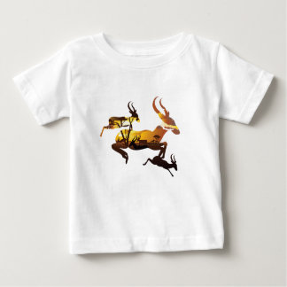 Sunset Landscape with Antelopes 3 Baby T-Shirt