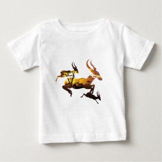 Sunset Landscape with Antelopes 3 Baby T-Shirt