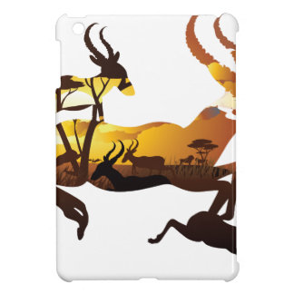 Sunset Landscape with Antelopes 3 Case For The iPad Mini