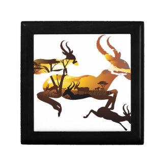 Sunset Landscape with Antelopes 3 Gift Box
