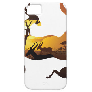 Sunset Landscape with Antelopes 3 iPhone 5 Case