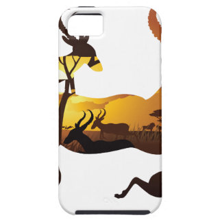 Sunset Landscape with Antelopes 3 iPhone 5 Cover
