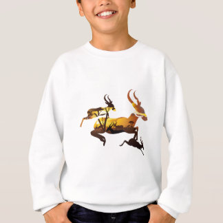 Sunset Landscape with Antelopes 3 Sweatshirt