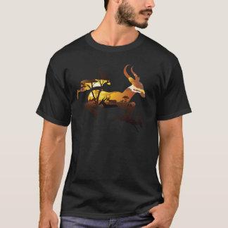 Sunset Landscape with Antelopes 3 T-Shirt