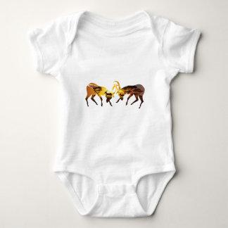Sunset Landscape with Antelopes Baby Bodysuit