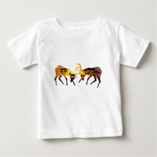 Sunset Landscape with Antelopes Baby T-Shirt