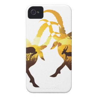 Sunset Landscape with Antelopes Case-Mate iPhone 4 Cases