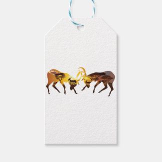 Sunset Landscape with Antelopes Gift Tags