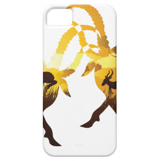Sunset Landscape with Antelopes iPhone 5 Case