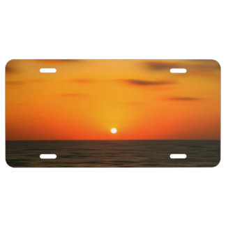 Sunset License Plate