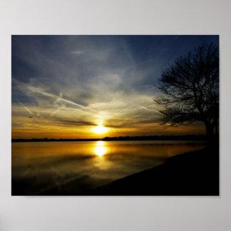 Sunset Like Liquid Gold Poster