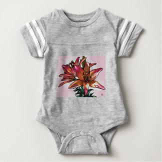 Sunset lily baby bodysuit