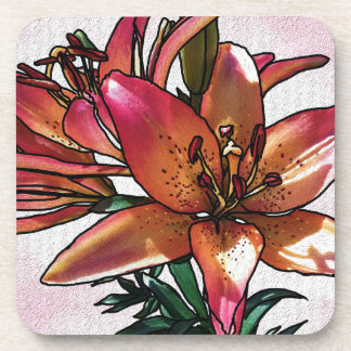 Sunset lily coaster