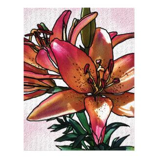 Sunset lily letterhead