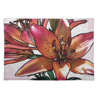 Sunset lily placemat
