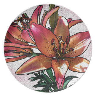 Sunset lily plate