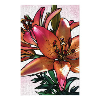 Sunset lily stationery