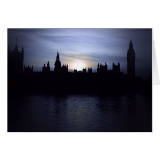 Sunset-London-Parliament-Big Ben Greeting Card