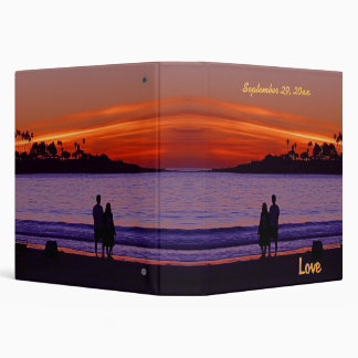 Sunset Love Couple 3 Ring Binders