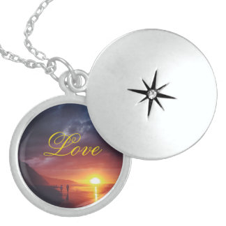 Sunset Love Silver Locket