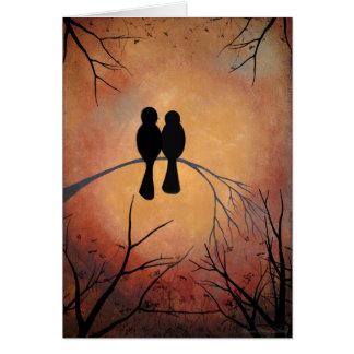 Sunset Lovebirds Card