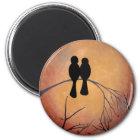 Sunset Lovebirds Magnet
