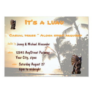 Sunset Luau Party Card