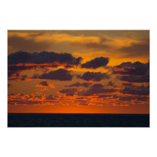 Sunset, Ludington, Michigan Poster