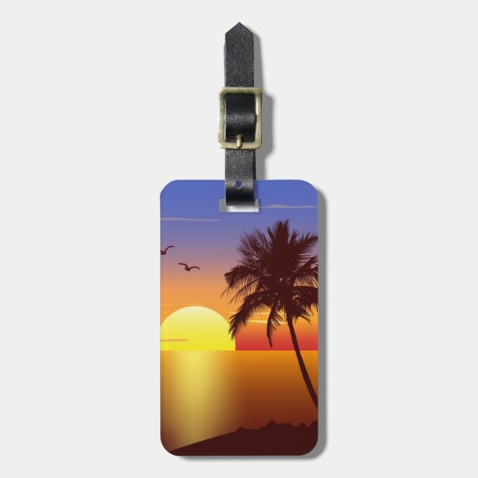 Sunset luggage tag