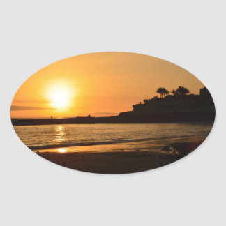 Sunset Lullabye Oval Sticker