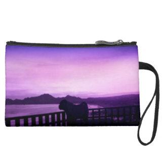 Sunset Magic Pug Clutch Wristlet